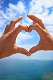 Hands make heart sign Royalty Free Stock Image