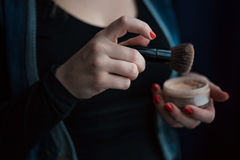 Hands make-up artist Royalty Free Stock Images