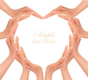 Hands making a heart. Stock Photography