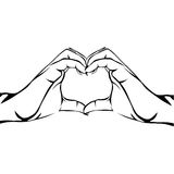 Hands making heart gesture image Royalty Free Stock Images