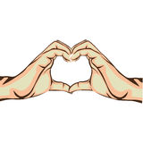 Hands making heart gesture image Royalty Free Stock Photos