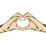 Hands making heart gesture image Stock Photos