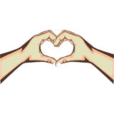 Hands making heart gesture image Royalty Free Stock Photo
