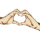 Hands making heart gesture image Stock Photo