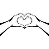 Hands making heart gesture image Stock Image