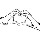 Hands making heart gesture image Stock Photography