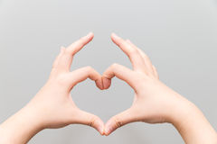 Hands making a heart shape Royalty Free Stock Photo