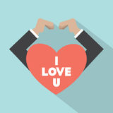 Hands Making Heart Sign. Vector Illustration Stock Photos