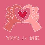 Hands making heart symbol Royalty Free Stock Photo