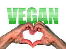 Hands making heart for vegan or veganism lifestyle Stock Photo
