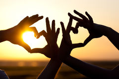 Hands making hearts Royalty Free Stock Photo