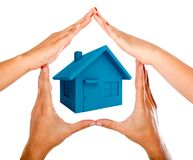 Hands making a house Royalty Free Stock Photography