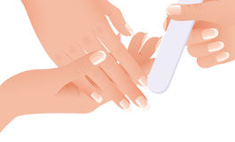 Hands making manicure Royalty Free Stock Photos