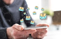 Concept of e-mail royalty free stock photo