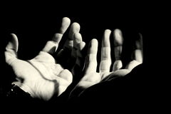 Hands of man. Under the sun stock images