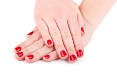 Hands with manicure Royalty Free Stock Images