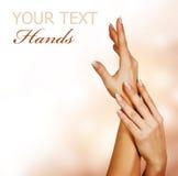Hands.Manicure della donna Fotografia Stock Libera da Diritti