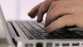 Hands manual therapist Doctor typing on the keyboard closeup stock footage