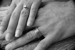Hands of Marriage Stock Image
