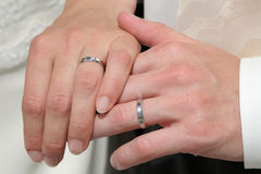Hands by marriage Royalty Free Stock Photo