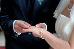 Hands in marriage Royalty Free Stock Photo