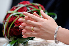 Hands in marriage Royalty Free Stock Images