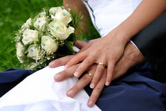 Hands in marriage Royalty Free Stock Photos
