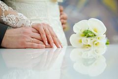 Hands of married couple Royalty Free Stock Photo