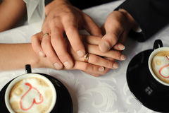 Hands of married people. Stock Images