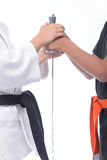 Hands and Martial Arts Stock Photo