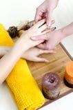 Hands massage Stock Photo