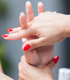 Hands massage. Stock Photo