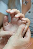 Hands massage Royalty Free Stock Photography