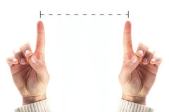 Hands that measure Stock Photo