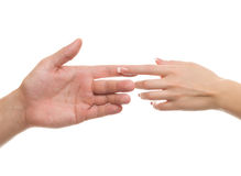 Hands of men and women Royalty Free Stock Image