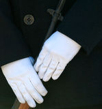 Hands of military Honor Guard Royalty Free Stock Photos