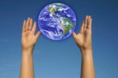 hands min värld Fotografering för Bildbyråer