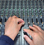 Hands On Mixing Royalty Free Stock Photos