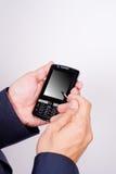 hands mobiltelefonen Royaltyfria Foton