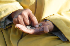 Hands and the money Stock Image