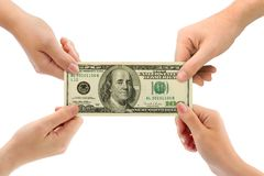 Hands and money Stock Image