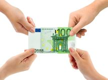 Hands and money Royalty Free Stock Image