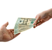 Hands with money Royalty Free Stock Photo