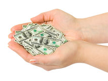 Hands with money Royalty Free Stock Image