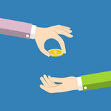 Hands with money Royalty Free Stock Photos