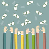 Hands with money Stock Images