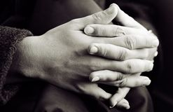 Hands (Monochrome) Royalty Free Stock Photography