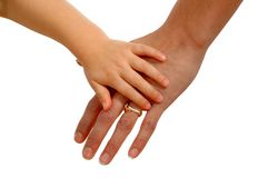 Hands of mother and child Stock Photography