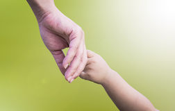 hands of mother and child Royalty Free Stock Photo