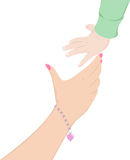 Hands of mother and child Royalty Free Stock Images